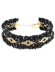 Women's Choker Necklaces Statement Necklaces Jewelry Fabric Jewelry Fashion Personalized Euramerican Statement Jewelry Black JewelryDaily