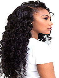 Wholesale 7A Virgin Human Hair Wigs Kinky Curly Natural Black Color For Black Woman Fashion Style Glueless Lace Front Wigs With Baby Hair