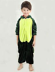 kigurumi Pyjamas Dinosaure Collant/Combinaison Chaussons Fête / Célébration Pyjamas Animale Halloween Mosaïque polaire Kigurumi Pour