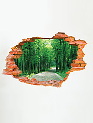 3D Wall Stickers Wall Decals Style Green Woods PVC Wall Stickers