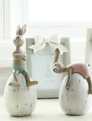 Animals Holiday Nordic Goddess Creative Resin Crafts Ornaments Cute Rabbit Polyresin Modern Gifts Indoor Decorative Accessories