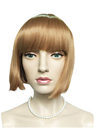 Top Quality Short Bob Kinky Straight Synthetic Fiber Wig Ombre Women Wig