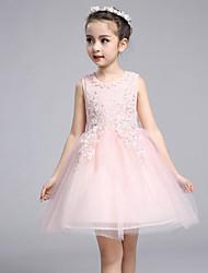 Girl's Beach Solid Floral Dress,Cotton Summer Spring Sleeveless