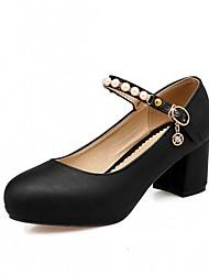 Women's Heels Spring Summer Fall Winter Comfort Novelty Leatherette PU Wedding Office & Career Dress Casual Party & EveningChunky Heel