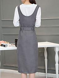 neue Frauen&# 39; s Langarm-Shirt und langen Rock dünnes Kleid weiblichen Bügel Kleid zweiteiliger Anzug