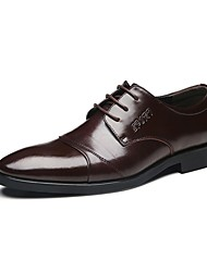Men's Oxfords Comfort Leather Wedding Office & Career Party & Evening Walking Provide Large Yards