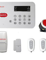 Wireless PSTN Alarm System Touch Voice for Home Security Auto Dialer Anti Theft Remote Control with Sensor Low Voltage Alert