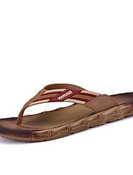 Slippers & Flip-Flops Summer Slingback Microfibre Leather Outdoor Casual Flat Heel Black Brown