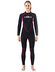 SLINX® Women's 3mm Wetsuits Dive Skins Waterproof Breathable Thermal / Warm Quick Dry Windproof Coolmax Memory Foam Tactel Diving Suit