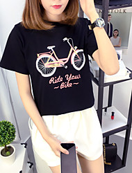 YOKO summer hot new stock short-sleeved t-shirt printing wild female bike jacket