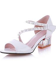 Damen-Sandalen-Hochzeit Kleid Party & Festivität-Leder-Blockabsatz-Andere-Weiß