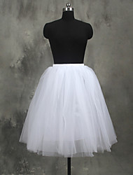 Slips A-Line Slip Ball Gown Slip Knee-Length 4 Tulle Netting White Black Red