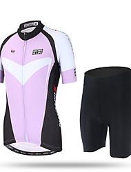 XINTOWN® Women's Cycling Clothing Bike Bicycle Short Sleeve Cycling Jersey Top Team MTB Wear Ropa Ciclismo Pro Girls Sportswear Purple
