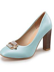 Women's Heels Spring Summer Fall Winter Club Shoes Comfort Velvet Office & Career Party & Evening Dress Chunky Heel BowknotBlack Yellow