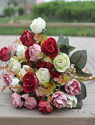 1 Une succursale Plastique Roses Fleur de Table Fleurs artificielles 30*30*30