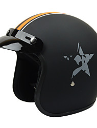 GXT G-386 Motorcycle Half Helmet Harley Fiberglass Material Coolmax Lining White Foam Layer Helmet Anti-Ultraviolet Helmet Unisex No Lens