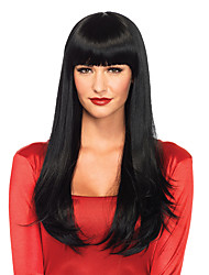 Beata Hair 130% Denisty Brazilian Front Lace Wigs Straight Human Hair Lace Wigs with Bangs