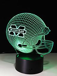 3d personnalité créative touche colorée LED Veilleuse