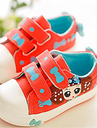 Girl's Flats Comfort Canvas Outdoor Athletic Casual Red White Running