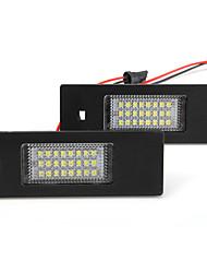 2x 24 LED 3528 SMD número da placa de licença cauda lâmpada de luz para BMW E64 E81