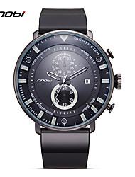 SINOBI Модные часы Уникальный творческий часы Календарь Защита от влаги Хронометр Ударопрочный Кварцевый силиконовый ГруппаCool