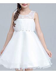 Girl's Beach Solid Dress,Cotton Summer Sleeveless