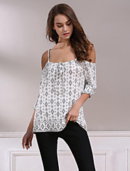 New Fresh Casual Beach Simple Street chic Summer Fall T-shirt Floral Strap  Length Sleeve