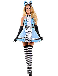 Alice in Wonderland Costume Blue Maid Costume Fantasia Carnival Halloween Costumes Fancy Lolita Dress