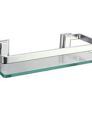 Monolayer Bathroom Shelf / AnodizingGlass Aluminum /Contemporary
