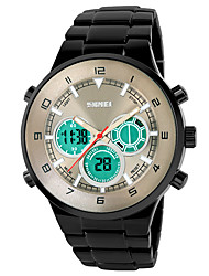 Men's Fashion Watch Digital Watch Digital Alloy Band Black