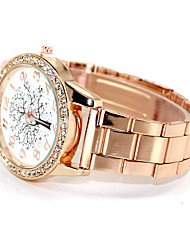 Women's Kids' Fashion Watch Simulated Diamond Watch Imitation Diamond Quartz Alloy Band Gold