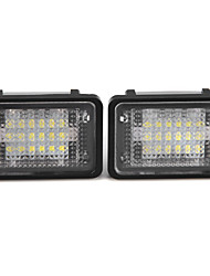 2 x White 18 LED 3528 SMD License Plate Lights Lamp for BENZ GLK X204 350