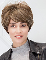 Cool Textured Short Synthetic Ombre Wigs For White Women Natural Wigs With Side Bangs 2017 Trend