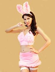 Disfraces de Cosplay Ropa de Fiesta Bunny girl Festival/Celebración Disfraces de Halloween Rosado Un Color Top FaldaHalloween Navidad