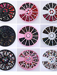 3D Nail Art Rhinestones Glitters Acrylic Tips Decoration Manicure Wheel New Hot