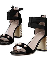 Mujer Tacones Tira en el Tobillo Zapatos del club Vellón Primavera Verano Otoño Boda Vestido Fiesta y NocheTira en el Tobillo Zapatos del