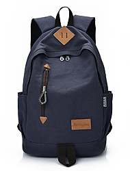 Backpack Canvas All Seasons Sports Casual Outdoor Office & Career Professioanl Use Shopping Bucket Zipper Black Gray
