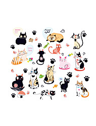 Wall Stickers Wall Decals Style Cute Cat PVC Wall Stickers