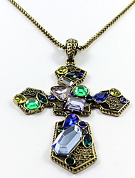 Women's Pendant Necklaces Jewelry Single Strand Cross Gemstone Gem Resin Alloy Pendant Natural Euramerican Personalized Jewelry ForParty