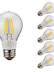 4W E26 LED лампы накаливания A60(A19) 4 COB 400/500 lm Тёплый белый Холодный белый AC 110-130 V 6 шт.