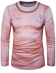 Tee-shirtImprimé Décontracté / Quotidien simple Manches Longues Coeur Multi-couleur Coton