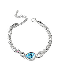 Women's Chain Bracelet Crystal Crystal Alloy Natural Fashion Round Blue Jewelry 1pc