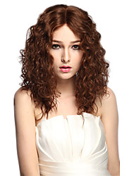 Side Part Wig Long Kinky Curly Women Party Wig Costume Wig Brown Heat Resistant Hairstyle