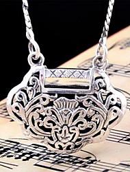 Pendentif de collier Bijoux Forme Géométrique Argent sterling Pendant Géométrique Mode Argent Bijoux PourAnniversaire Quotidien Regalos
