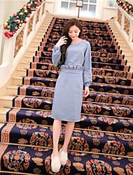 signe Luyao court paragraphe 2016 ressort nouveau manteau + tailleur jupe plissée bourgeon