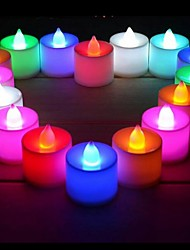 24PCS  LED Light Candle Shape Flameless Candle Light for Wedding Party Holiday Home Club Bar Decoration(Ramdon Color)