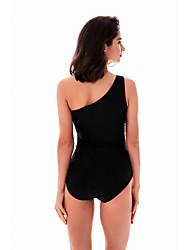2017 estilo europeu sexy gordura jardas NPC swimsuit maiô preto ombro siamese feminina