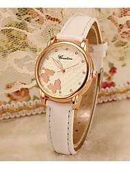 Mulheres Relógio de Moda Quartzo Couro Banda Pendente Casual Preta Branco Vermelho