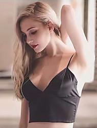 не Европа не обода тонкий срез сексуальные маленькие черный треугольник чашки бюстгальтер ремни пассивом жилет женский весной и летом