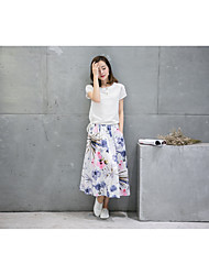 Sign summer Korean Slim retro ethnic style theatrical two-piece cotton dress child skirt suits 9695
